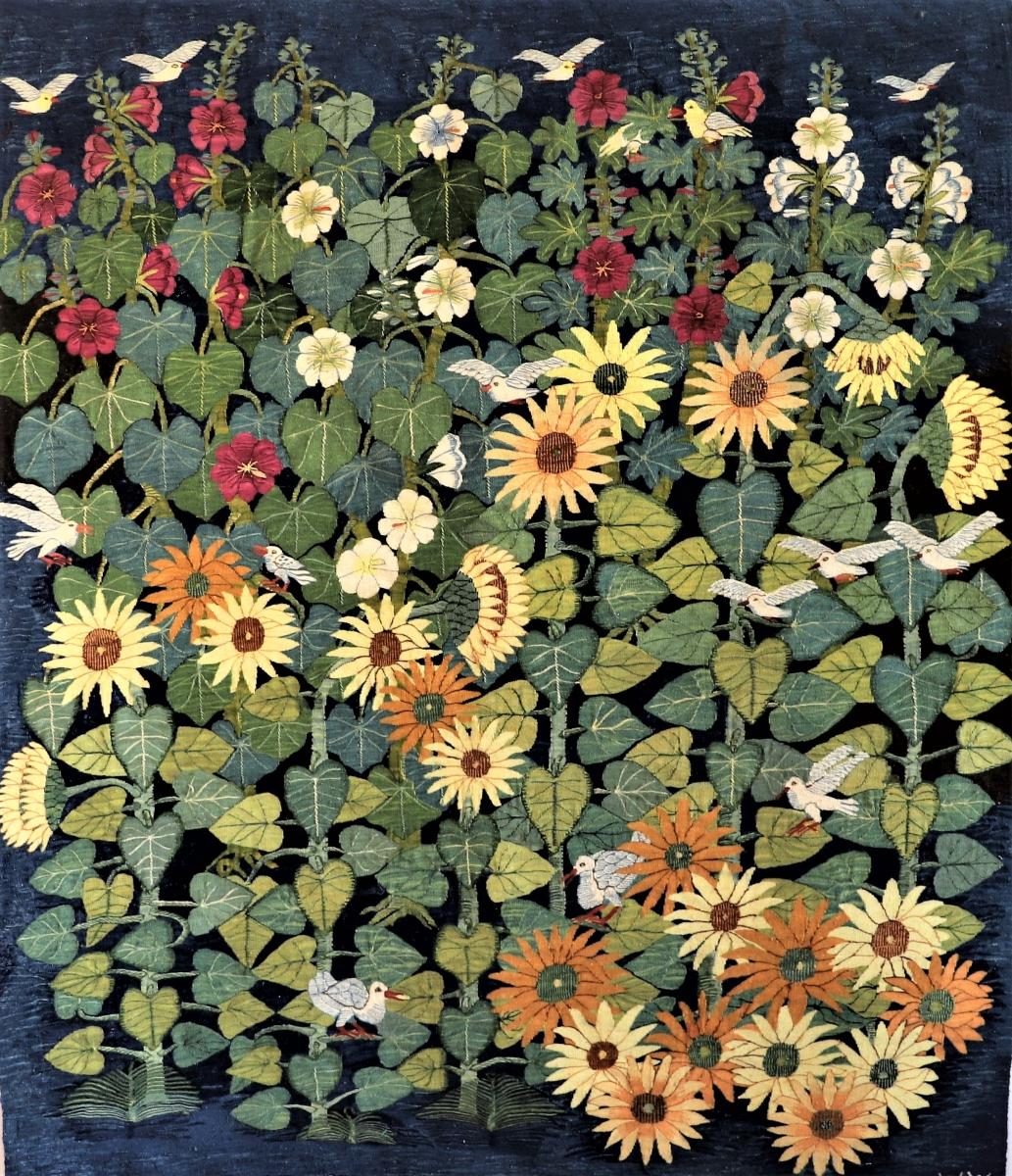 17-Sunflowers-Hollyhocks-187-2020-147-x-1.71-m-Mahrous-Abdou-1