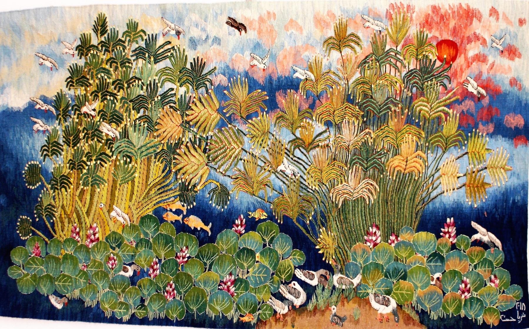 19-Nile-flowers-Papyrus-2018-111-1.85-x-1.10-m-Soraya-Hassan-1