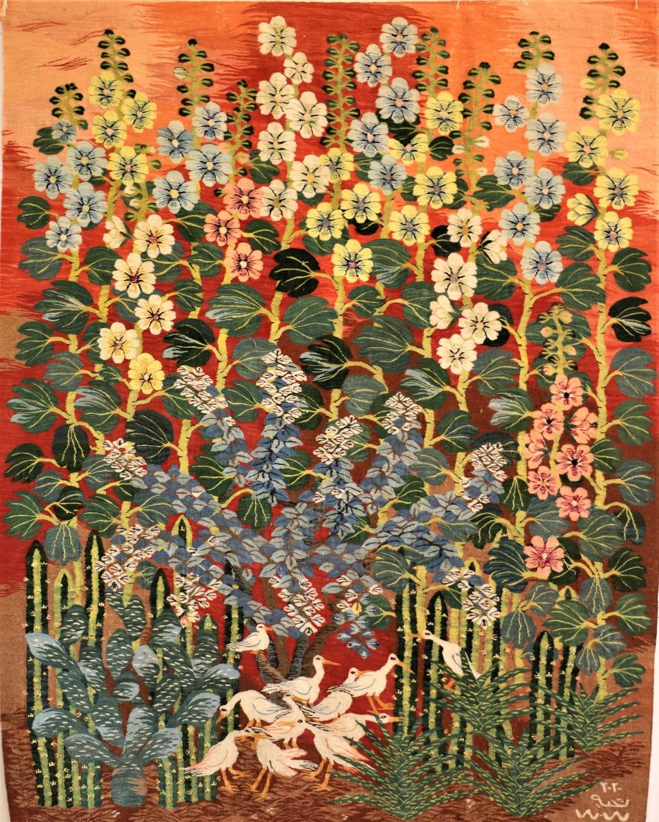 22-Cactus-Ibis-Hollyhocks-2020-116-1.44-x-1.85-m-Taheya-Ibrahim