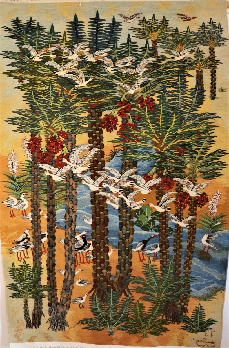 3-Palms-birds-2020-1.31-x-2.00-m-Reda-Ahmed